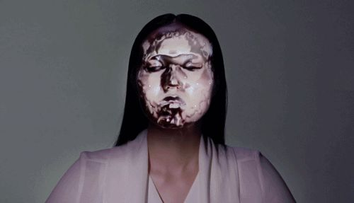 prostheticknowledge:  Real-Time Face Tracking and Projection...