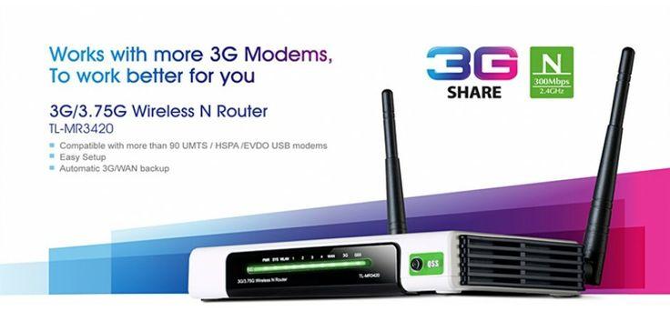 Berbagi konektivitas 3G! TL-MR3420 3G / 3.75G Wireless Router N memungkinkan pengguna untuk berbagi koneksi mobile broadband 3G / 3.75G dengan keluarga dan teman-teman di kereta, saat berkemah, di hotel, hampir di mana saja dalam jangkauan 3G. Dengan menghubungkan modem UMTS / HSPA / EVDO USB ke router, hotspot Wi-Fi langsung siap dipakai.