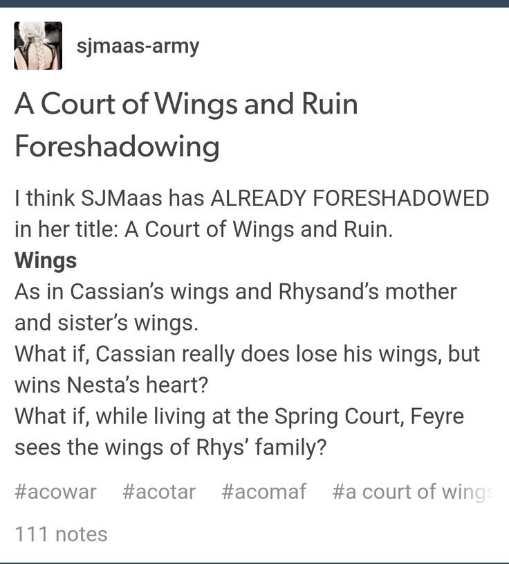 ACOWAR- Cassian better not lose his arms.... please