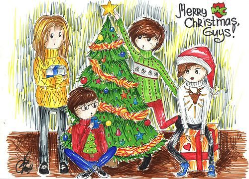 MadCraft Christmas Card by  missbullfinch on Tumblr