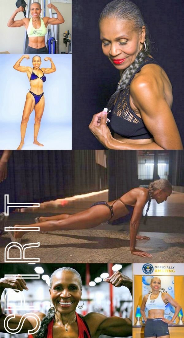 guinness book of world records for being the oldest female body builder - 74 years old - started exercising at age 55