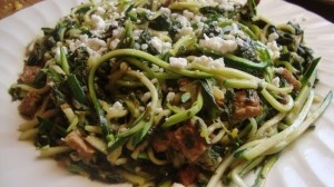 I have all these ingredients right now! And we need more zucchini recipes! Swiss Chard and Zuchinni Pasta 11
