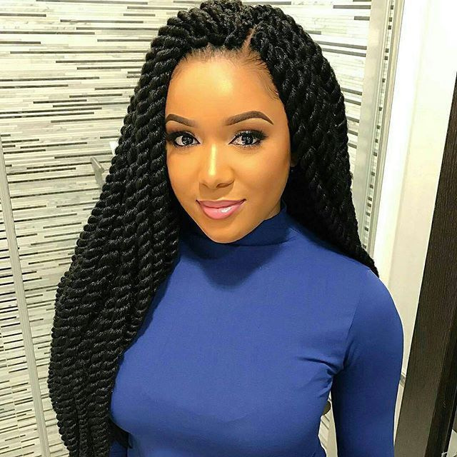 Image result for extension braid hairstyles for black hair