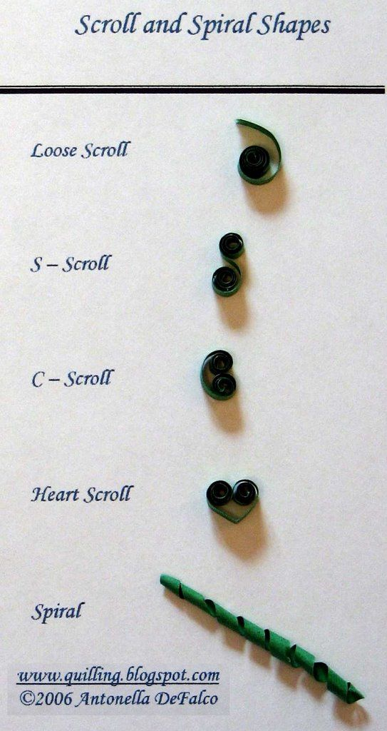 Quilling Instructions Spiral Shapes free quilling pattern quilling shapes