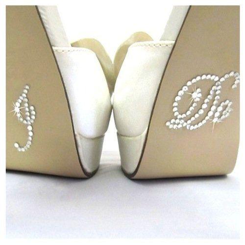 I DO Diamante Crystal Rhinestone Wedding Shoe sticker decal - clear colour