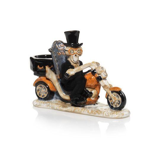 2013 Yankee Candle Boney Bunch Motorcycle Tea Light Candle Holder -- Click image for more details.