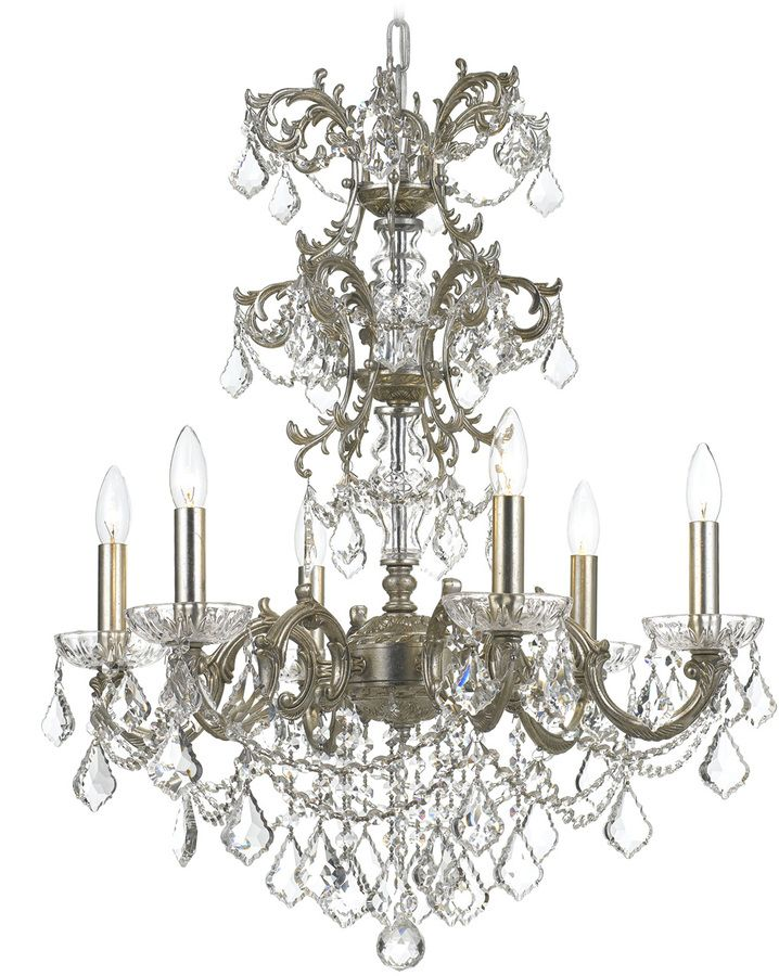 Crystorama Highland Park 6-Light Olde Chandelier