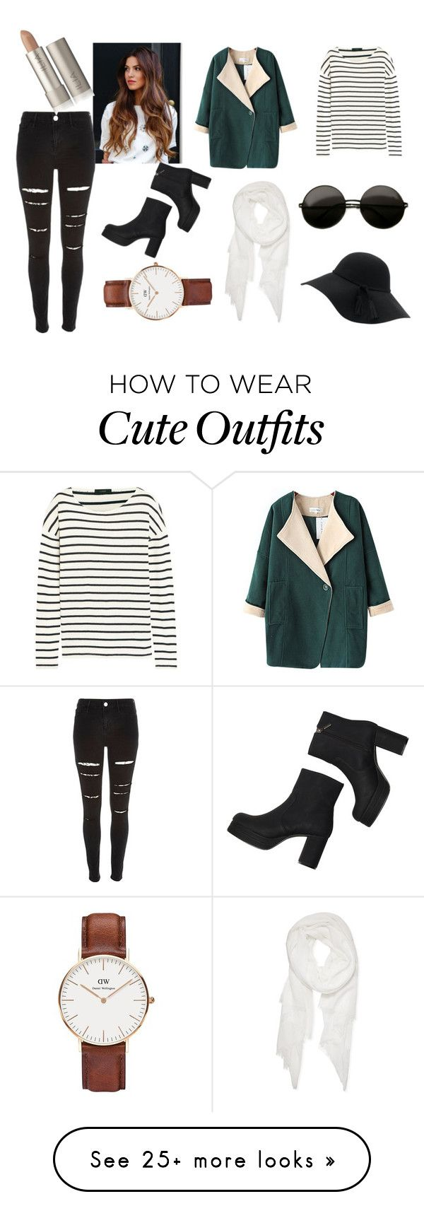 """""""cute outfit for cold"""" by laurahonner on Polyvore featuring J.Crew, Chicnova Fashion, Monki, River Island, Calvin Klein and Daniel Wellington"""