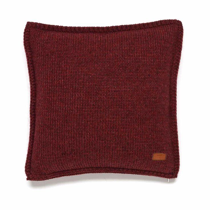 Gant Solid Knit Kissenbezug 50 x 50 cm rot
