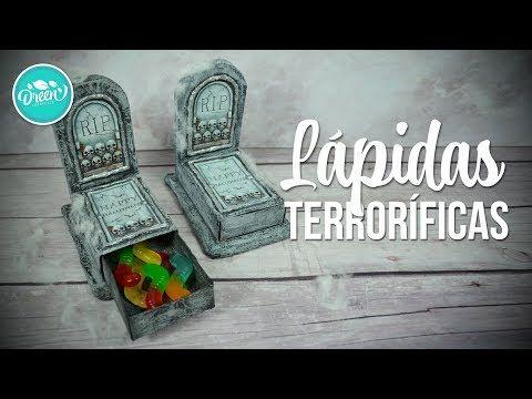 (2) Manualidades para Halloween (Caja en forma de lápida o tumba terrorífica)   DREEN - YouTube