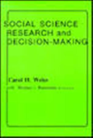 Social science research and decision-making (PRINT) REQUEST/SOLICITAR: http://biblioteca.cepal.org/record=b1253279~S0*spi