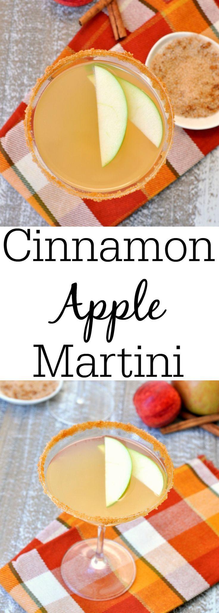 Cinnamon Apple Martini