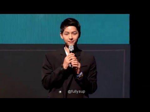 160417 송중기 5TH FANMEETING_ ALWAYS, GOODBYE인사 - YouTube