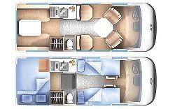 Chevrolet 3500 Minivan Camper Interior Layout