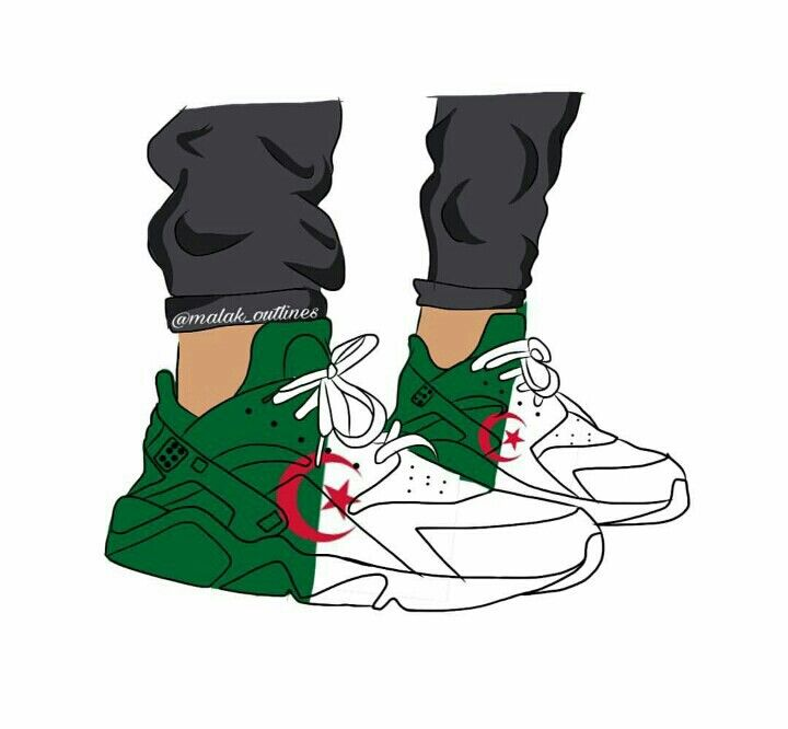 Autocollant Chaussure Foot Algerie   MPA Déco