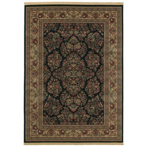 """Shaw Kathy Ireland Home Essentials Imperial Bouquet 3'10"""" x 5'7"""" Ebony Area Rug by Shaw. $149.00. Kathy Ireland Home Essentials IMPERIAL BOUQUET ebony rug by Shaw Floors is a machine made rug made from synthetic. It is a 4 x 6 area rug rectangular in shape. The manufacturer describes the rug as a ebony 3'10"""" x 5'7"""" area rug. Buy discount rugs with Buy Area Rugs .com SKU 3x722-2150