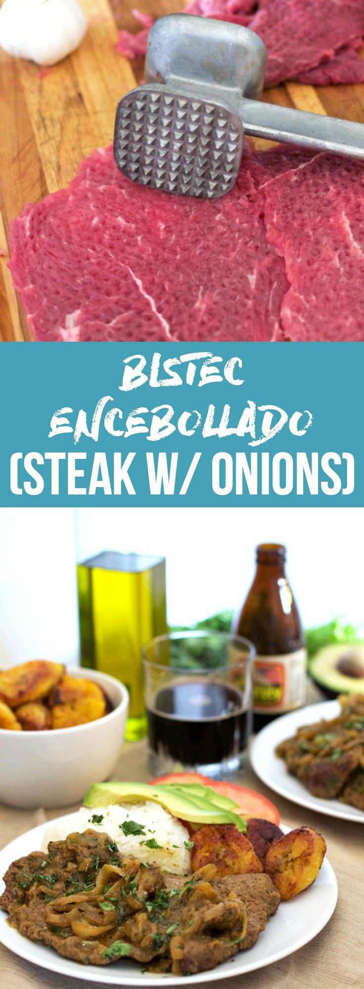 BISTEC ENCEBOLLADO (STEAK W/ ONIONS) — This Cuban Steak with Onions dish is jam packed full of delicious flavors! It's tender, savory, and sure to make any abuela proud | bitsofumami.com