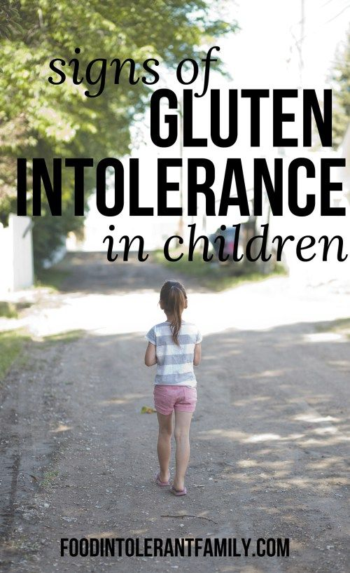 One of the biggest symptoms of gluten intolerance in children is behavioral, they have extreme mood swings, anxiety, show violence and can show signs of depression.