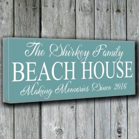 Beach House Decor Signs Personalized Beach House Family Name Wood