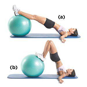 Swiss-Ball Hip Raise & Leg Curl