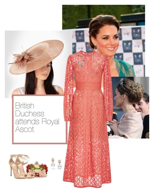 British Duchess attends Royal Ascot by stylesofaroyal on Polyvore featuring polyvore moda style Elie Saab Gianvito Rossi Alexander McQueen Escalier J by Jasper Conran GALA fashion clothing