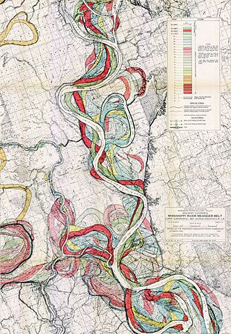 Mississippi meandersAntiques Maps, Cartography, Vintage Maps, Mississippi Cours, Mississippi Rivers, Painting, Design, Belts, Rivers Meander
