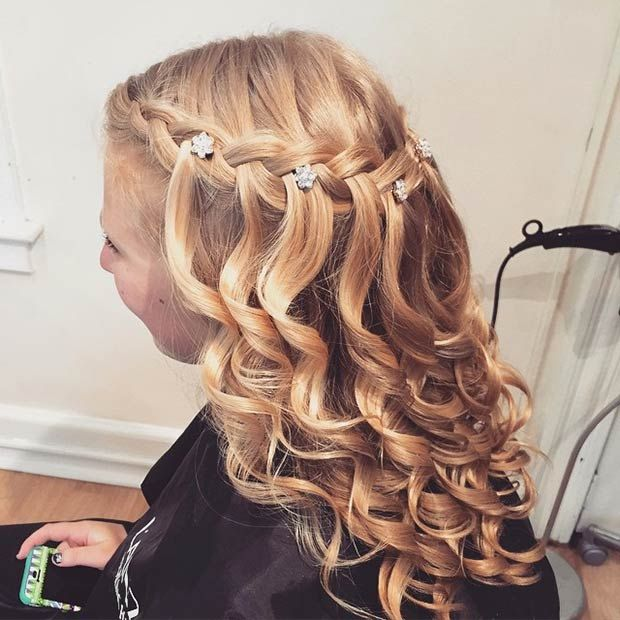 Amazing 1000 Ideas About Waterfall Braid Curls On Pinterest Waterfall Short Hairstyles Gunalazisus