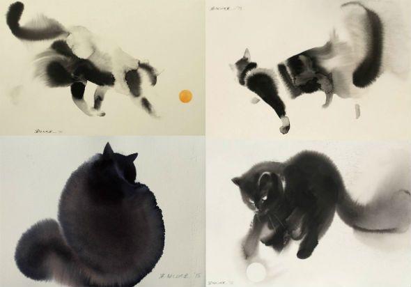 Выездной мастер-класс с Эндре Пеновацем «Кипр, акварель, весна, коты и кошки»