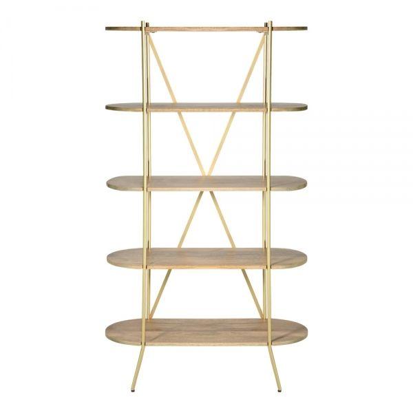Kyla Open Shelving Unit Natural Wood Shelves Open Shelving Units Metal Shelving Units
