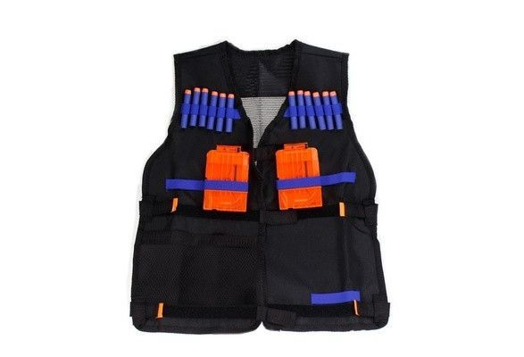 Nerf N-Strike Elite Adjustable Tactical Vest Kit with Storage Pockets New ( Darts and Clips are not included ) [9325198084]