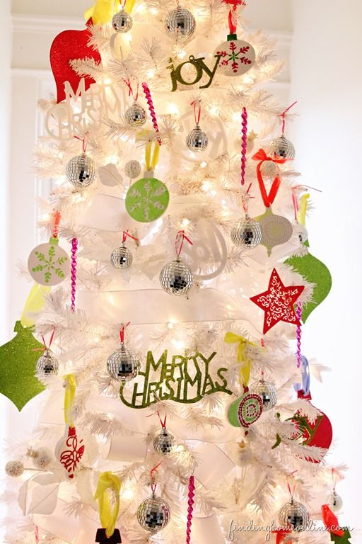 bright inspiration christmas home decor. bright and white Christmas tree 98 best Colorful Trees images on Pinterest  Merry