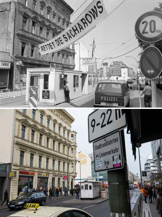 1085 Checkpoint Charlie Then (1986/5/19) and now.