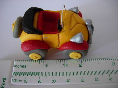 Noddy's Car 2 is hand crafted from gumpaste. by sheena.pinto, via Flickr