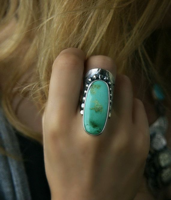 RESERVED - Of Sea and Sun - Royston Turquoise Sterling Silver Ring