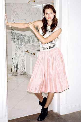 Upcycled prom skirt. Great idea for all those sad abandoned prom dresses!
