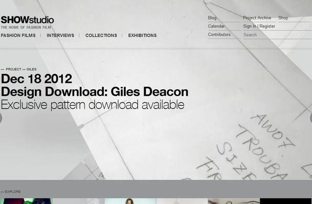 ニック・ナイトのファッションサイトでジャイルズ・ディーコンのパターンが公開 #Art #Design