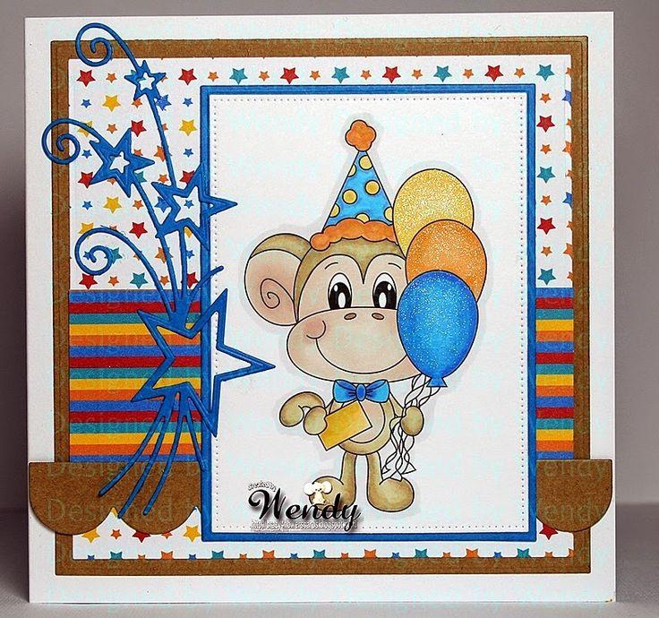 Digital Delights - Birthday Mickey Monkey
