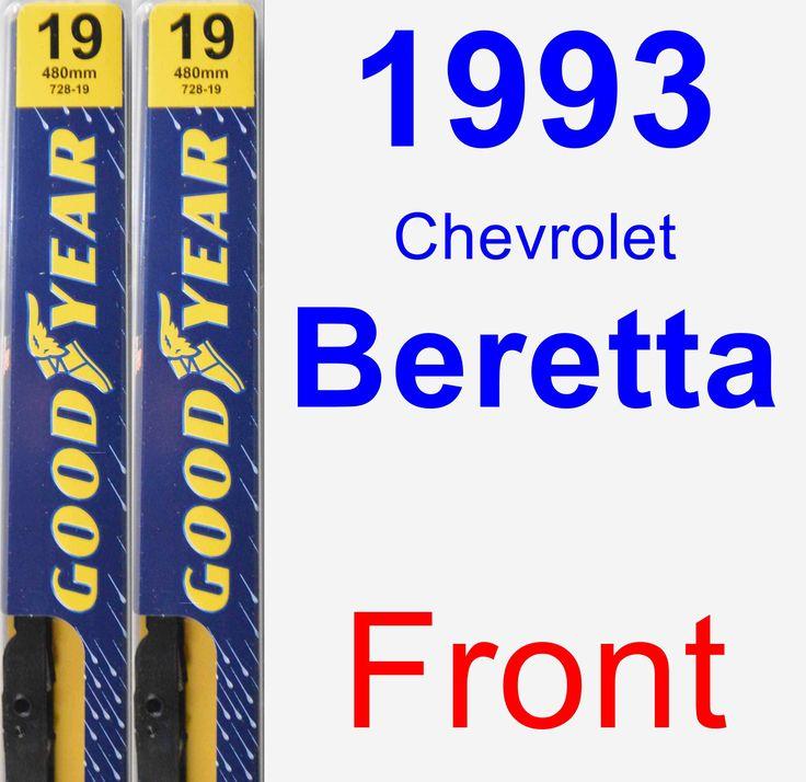 Front Wiper Blade Pack for 1993 Chevrolet Beretta - Premium