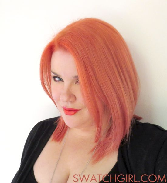 Bright coral hair with a touch of pastel.  #hair #pastel #coral