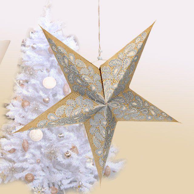 Papírová dekorace na zavěšení do okna - svítící hvězda