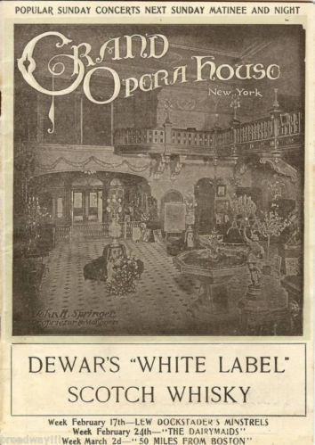Grand Opera House MARY BOLAND (Early Role) 1908 Program