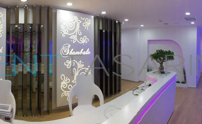 Shambala Aesthetic Clinic Interior Design and implementation by ND Mimarlık and Denttasarim, estetik kliniği banko