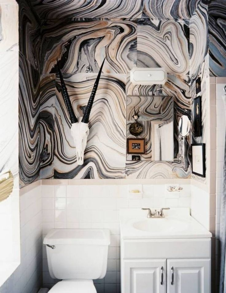 Bathroom design ideas | Bohemian Marble Bathroom by designer Nicki Clendening | Using of marble and onyx slabs to create glamorous private spaces | #marblebathrooms #bathroomideas #bathroomdecor