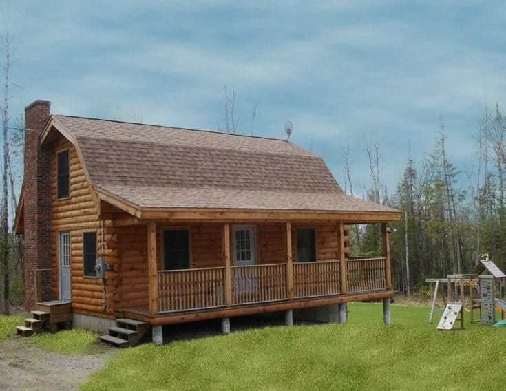 20 Interesting Delightful Gambrel Roof Ideas For 2019 Log Cabin Homes Small Log Cabin Log Cabin Floor Plans