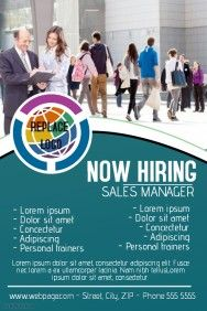 now hiring poster template | Business flyers | Pinterest ...