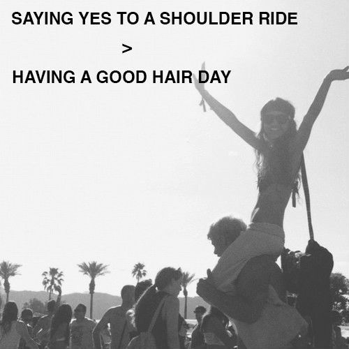 Saying Yes to a Shoulder Ride > Having a Good Hair Day