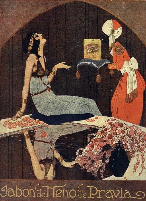 Federico Ribas for Heno de Pravia soap c. 1916