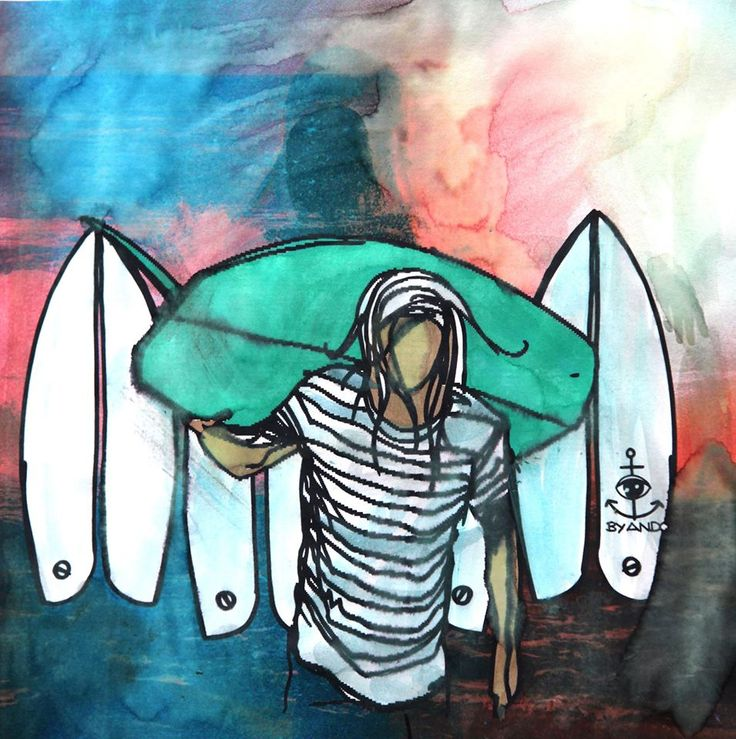Surf art by Andoni Galdeano