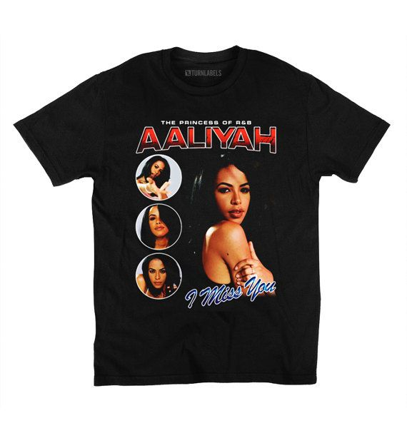 Aaliyah Vintage Inspired T-Shirt Throwback 90's Rap Tee I Miss You Rock The Boat Legend Princess of R&B