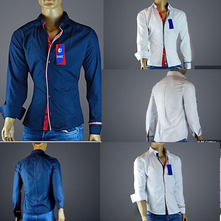 Herren Hemd Hemden Slim Fit Neu Polo T-Shirt Freizeithemden Größe S-XL 3